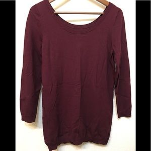 Banana Republic medium wine color light sweater